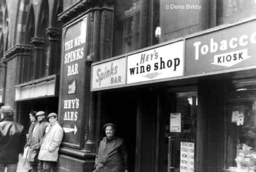 Spinks Bar, Market Street, Bradford, in the 1960s
